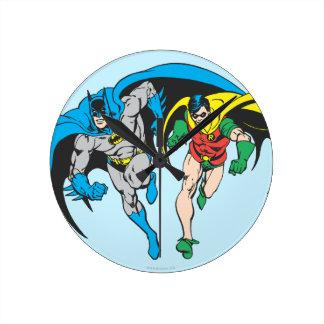 Batman & Robin Round Clock