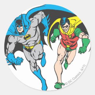 Batman & Robin Round Sticker