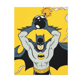 Batman Running With Bomb Canvas Print