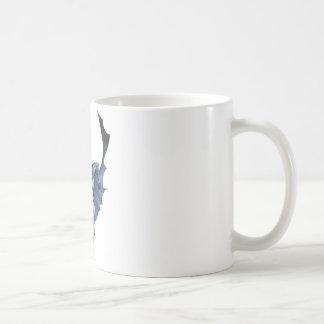 Batman runs with flying cape coffee mug
