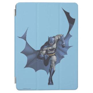 Batman runs with flying cape iPad air cover