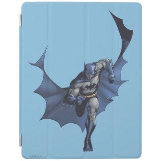 Batman runs with flying cape iPad cover