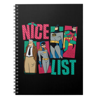 Batman | Santa Nice List of Heroes Spiral Notebook