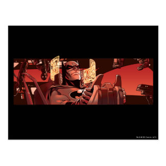 Batman Scene in red Postcard