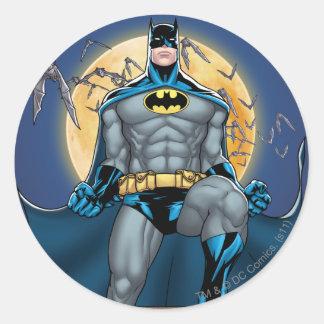 Batman Scenes - Moon Front View Round Sticker