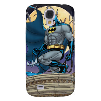 Batman Scenes - Moon Side View Galaxy S4 Case