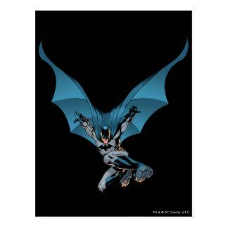 Batman skips in postcard