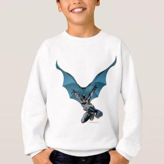 Batman skips in sweatshirt