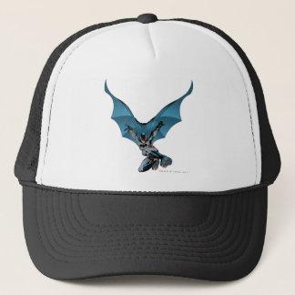 Batman skips in trucker hat