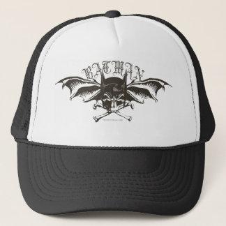 Batman Skull Cowl Batwings Logo Trucker Hat