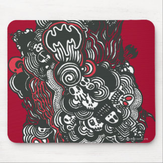 Batman Skulls/Ink Doodle Mouse Pad