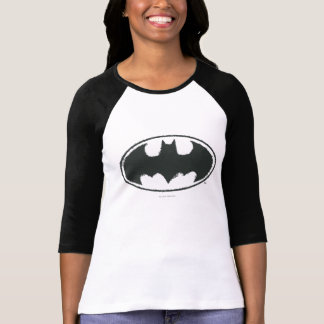 Batman Spray Symbol Black White T Shirt