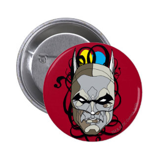 Batman Stained Glass Pen & Ink 6 Cm Round Badge