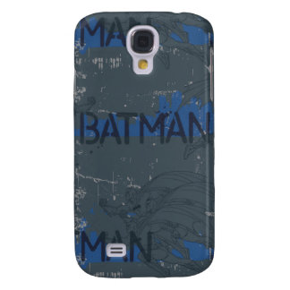 Batman Street Heroes - 3 - Blue/Grey Pattern Galaxy S4 Case