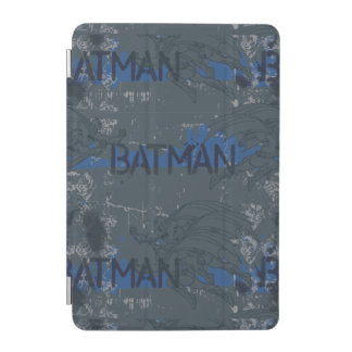 Batman Street Heroes - 3 - Blue/Grey Pattern iPad Mini Cover