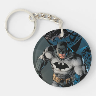 Batman Stride Double-Sided Round Acrylic Key Ring