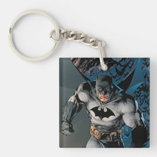 Batman Stride Double-Sided Square Acrylic Key Ring