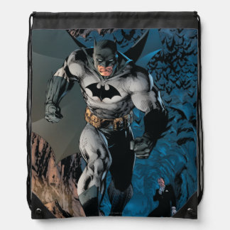 Batman Stride Drawstring Bag