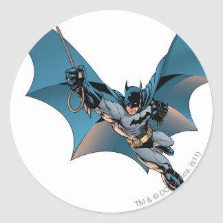 Batman swing  into action classic round sticker