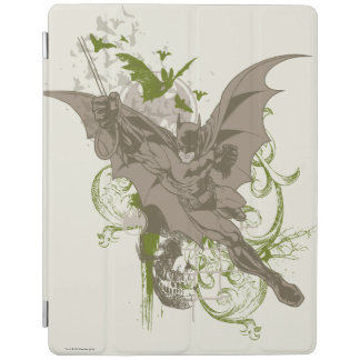 Batman Swinging Collage with Skull iPad Cover