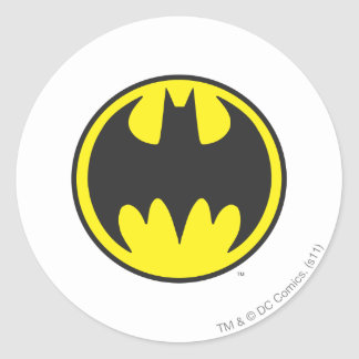 Batman Symbol | Bat Circle Logo Classic Round Sticker