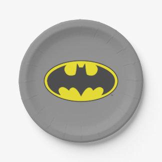 Batman Symbol   Bat Oval Logo 7 Inch Paper Plate