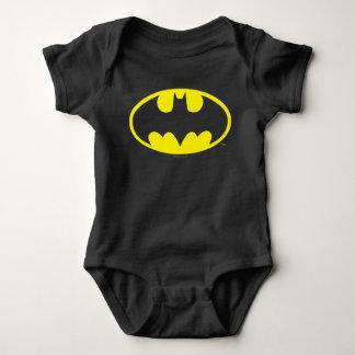 Batman Symbol   Bat Oval Logo Baby Bodysuit