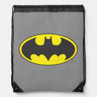 Batman Symbol | Bat Oval Logo Drawstring Bag