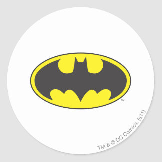 Batman Symbol   Bat Oval Logo Round Sticker