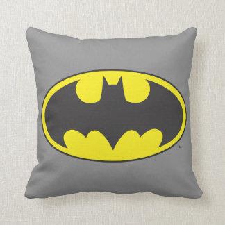 Batman Symbol | Bat Oval Logo Throw Pillow