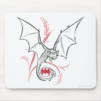 Batman Symbol | Bat Red Black Logo Mouse Mat