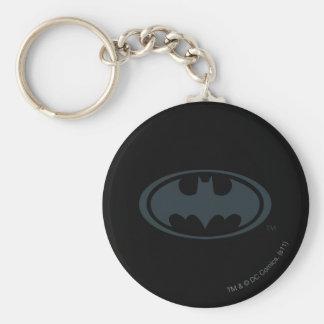 Batman Symbol | Black and White Logo Key Ring