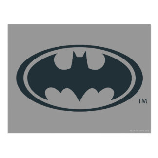 Batman Symbol | Black and White Logo Postcard