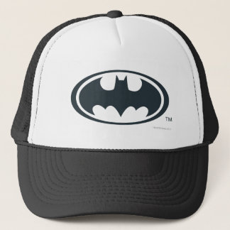 Batman Symbol | Black and White Logo Trucker Hat