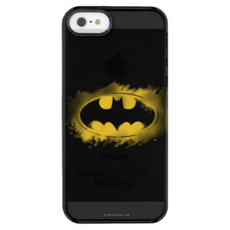 Batman Symbol | Black and Yellow Logo Clear iPhone SE/5/5s Case