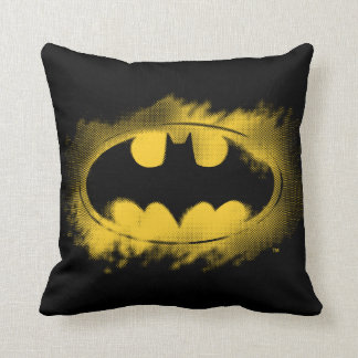 Batman Symbol | Black and Yellow Logo Cushion