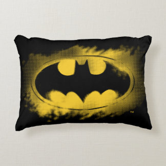 Batman Symbol | Black and Yellow Logo Decorative Cushion