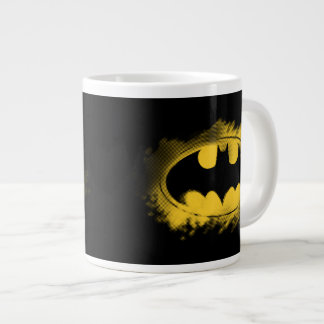 Batman Symbol | Black and Yellow Logo Large Coffee Mug