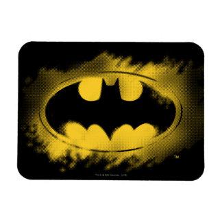 Batman Symbol   Black and Yellow Logo Magnet