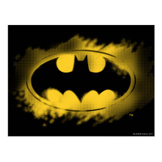 Batman Symbol   Black and Yellow Logo Postcard