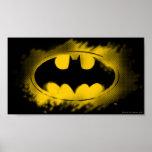Batman Symbol   Black and Yellow Logo Poster