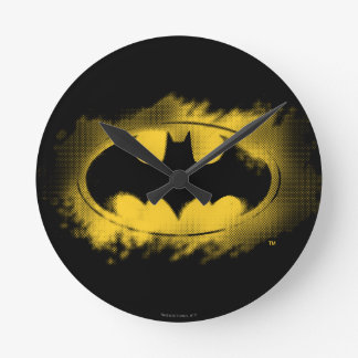 Batman Symbol | Black and Yellow Logo Round Clock