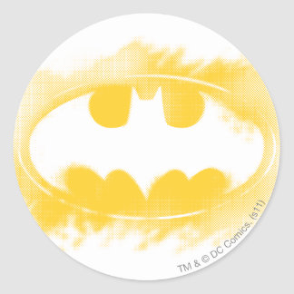 Batman Symbol | Black and Yellow Logo Round Sticker