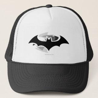 Batman Symbol   Black Shadow Logo Trucker Hat