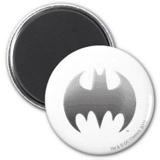 Batman Symbol | Black White Fade Logo 6 Cm Round Magnet