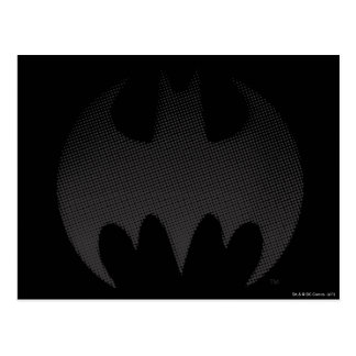 Batman Symbol | Black White Fade Logo Postcard