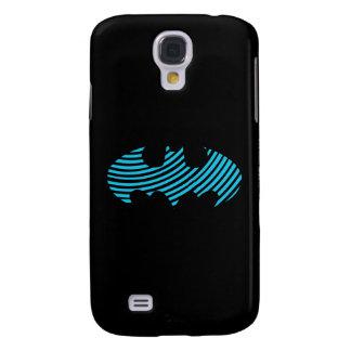 Batman Symbol | Blue Striped Logo Galaxy S4 Case