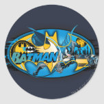 Batman Symbol | Classic Collage Logo Round Sticker