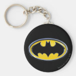 Batman Symbol | Classic Logo Basic Round Button Key Ring
