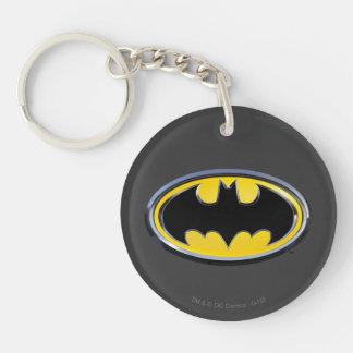 Batman Symbol | Classic Logo Double-Sided Round Acrylic Key Ring